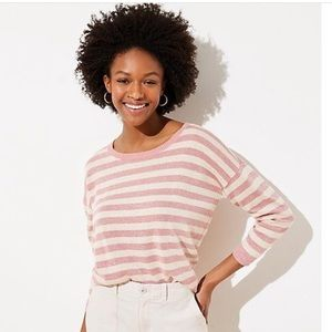 Pink and Cream Loft Sweater